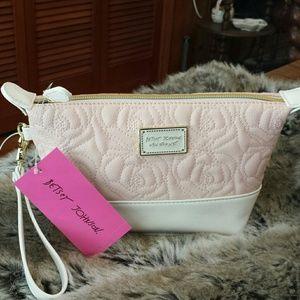 Betsy Johnson  Handbags - Betsy Johnson NWT Blush Trapezoid Cosmetic Case