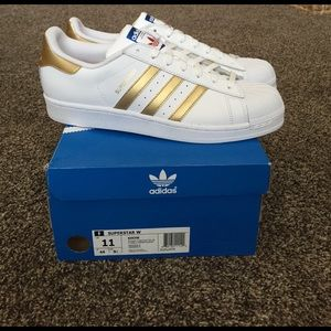 Adidas Shoes - BRAND NEW gold adidas superstars