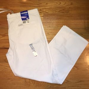 Landau Pants - White Scrub Bottoms