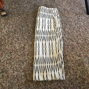 Zara abstract zebra print skirt