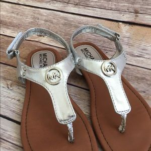 Michael Kors Other - MK Sandals - silver- girls size 13