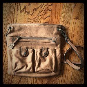 Giani Bernini Messenger Crossbody Bag Purse Tan