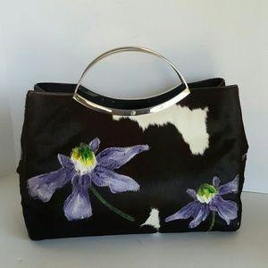 Versace Handbags - Gianni Versace Hand Painted Pony Hair Bag Tote