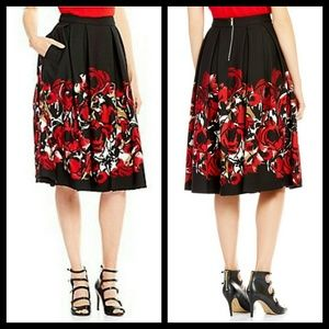 Karl Lagerfeld Dresses & Skirts - NWT KARL LAGERFELD FLARED MIDI SKIRT WITH POCKETS
