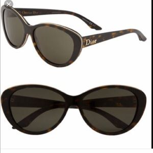 Dior Sunglasses NWOT Cat Eye Tortoise and Gold😎