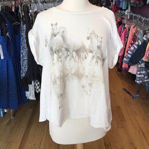 Wildfox XS horses tee shirt