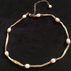 Honora Jewelry - Honora Pearl necklace with silver accents