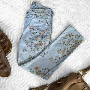 Citizens of Humanity Denim - Citizens of Humanity Mandy Blue Floral Jeans