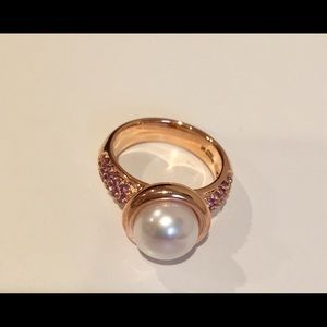 Honora Jewelry - Pearl and Amethyst Rose Gold Ring