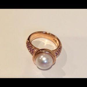 Honora Jewelry - Honora Pearl&Amethyst Rose Gold Ring