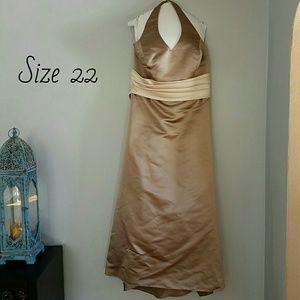 Bill Levkoff Dresses & Skirts - Champagne & Cream Floor Length Gown, Sz 22