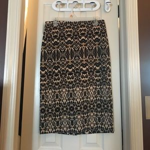 New York and Company Leopard pencil skirt.