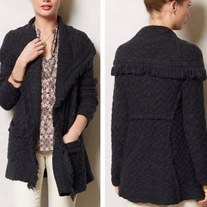 Anthropologie angel of the north fringe sweater
