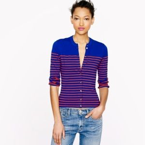 J. Crew Sweaters - 🆕J. Crew  cardigan in stripe with anchor buttons