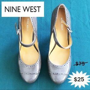 Nine West Shoes - Nine West grey heel shoes