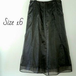 Apostrophe Dresses & Skirts - Apostrophe Black Taffeta Acetate Skirt Sz 16