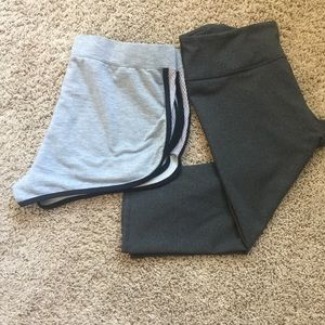 Fabletics Other - Set of Fabletics - gray Capri and gray shorts.