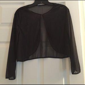 Onyx Tops - Sheer dress jacket