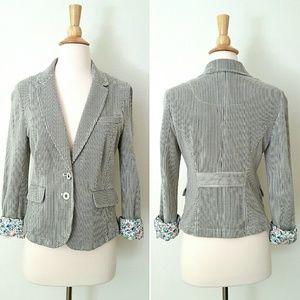 Anthropologie Jackets & Blazers - Anthropologie Striped Jacket