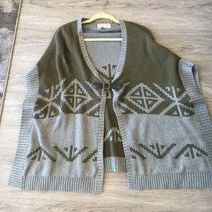 Heritage Sweaters - Heritage poncho sweater banana republic