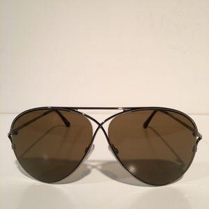 Tom Ford Accessories - Tom Ford Tabitha Brown Aviator Sunglasses NIB