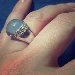Jewelry - Lovely SS CZ with blue cabochon stone 💎 ring 💍