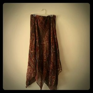 Charter Club Dresses & Skirts - BOGO Silk Skirt Handkerchief hem