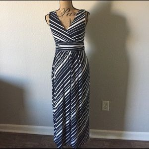 Ann Taylor Dresses & Skirts - Ann Taylor Blue and White Maxi