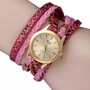 Sloggi Accessories - Watch/Bracelet Pink- Stylish with a Modern Look
