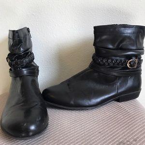 Shoes - Black Faux Leather Boots