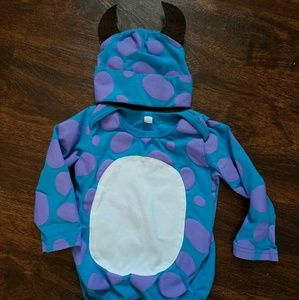 Other - Monsters Inc. Bodysuit w/hat 3/6 6/9 months