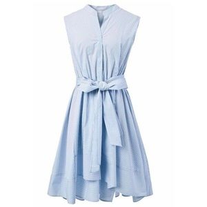 Chicwish Dresses & Skirts - Chicwish Blue and White High-Low Dress with Bow
