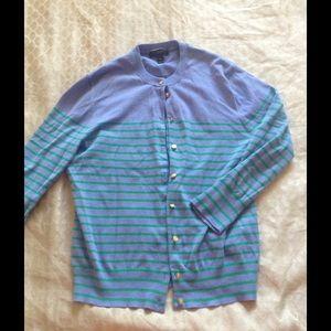 J. Crew Sweaters - J. Crew blue striped nautical cardigan