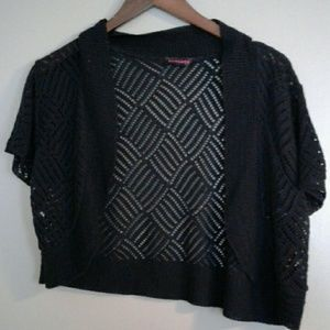Mascara Sweaters - *3 for $10 sale* Black knit shrug