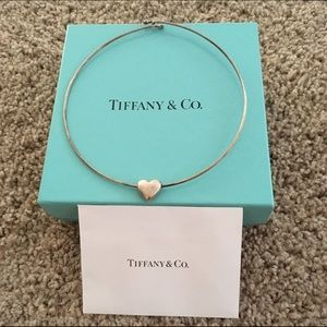 Tiffany & Co. Jewelry - TIFFANY & CO STERLING HEART WIRE NECKLACE RARE!!!