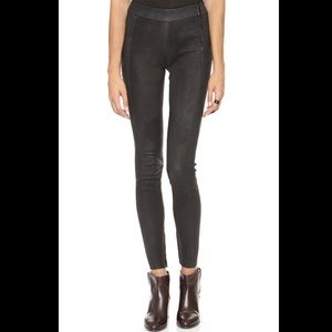 Just Female Denim - JUST FEMALE Amy Leather Zip Legging Pants Jeans XS