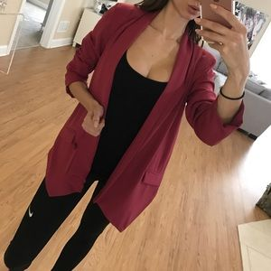Aryn K Jackets & Blazers - Dark pink oversized blazer