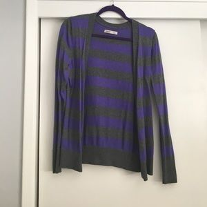 Old Navy Sweaters - Purple/gray striped cardigan