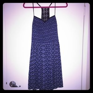 Exhilaration Dresses & Skirts - Dark Blue Spaghetti Strap Sundress