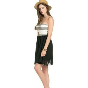 Blossom  Dresses & Skirts - 🆕 Black Chiffon mini tube dress