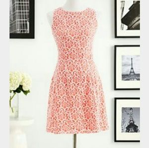 NY&Company EVA MENDES dress coral with white lace