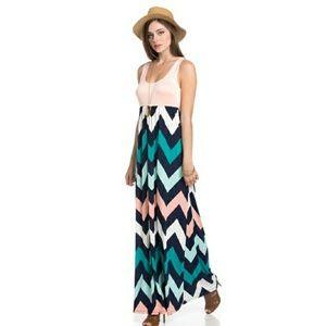Blossom  Dresses & Skirts - 🆕 Peach Chevron Maxi dress