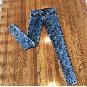 Flying monkey distressed skinny jeans!