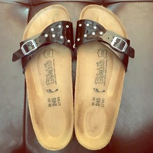 Birkenstock Shoes - Pleather Bling Authentic Birkis Size 38/8.5