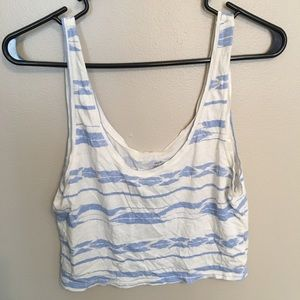 aerie Tops - Aerie blue and white crop top