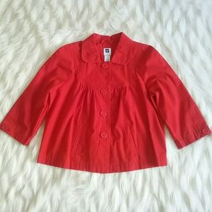 GAP 3/4 sleeve red jacket
