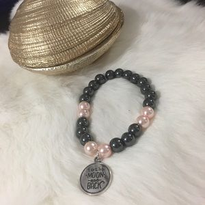 Jewelry - Handmade to the moon and back bracelet