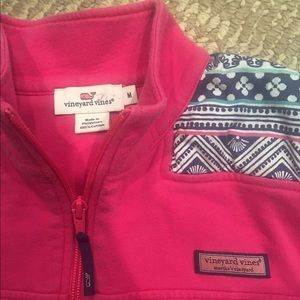 Vineyard Vines Tops - VINEYARD VINES PINK HALF ZIP SWEATSHIRT