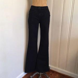 3x1 Denim - 3x1 mid-rise dark wash bell bottom flare jeans 30