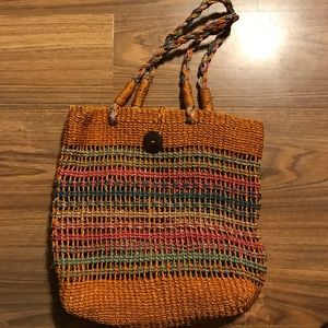 Handbags - LARGE STRAW TOTE BAG